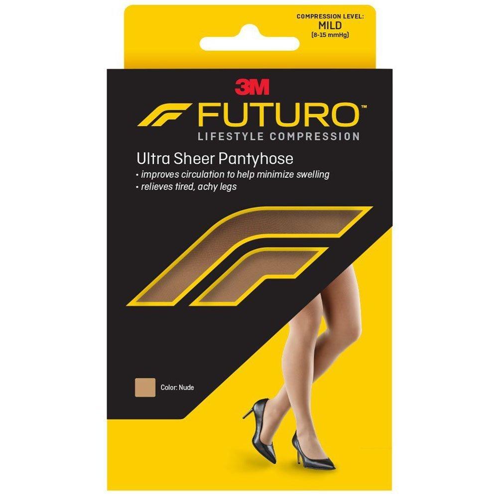 915400e8426 3M Futuro Energizing Ultra Sheer Stockings 8-15 mmHg Pantyhose Brief Cut