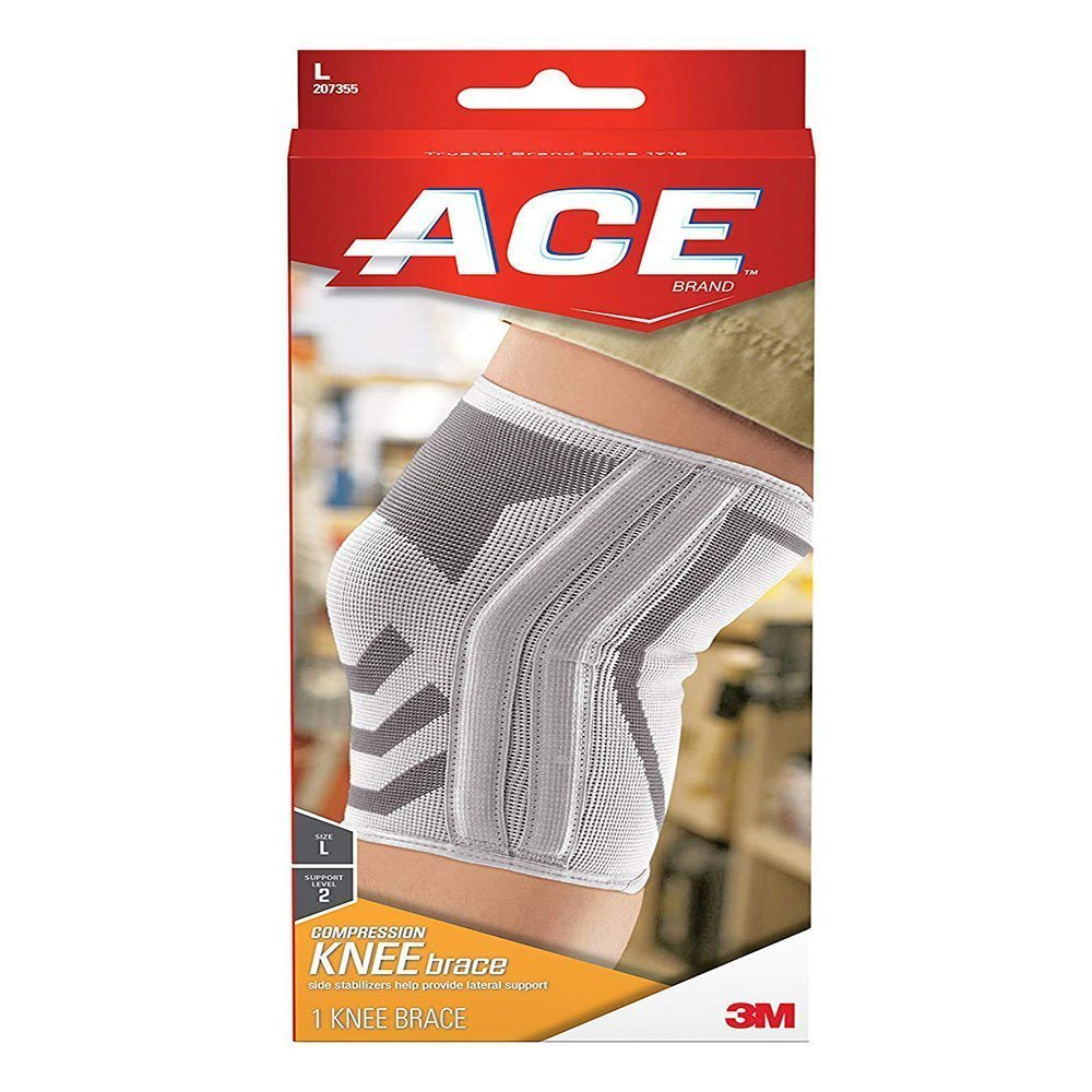 3m Ace Knitted Knee Brace With Side Stabilizers