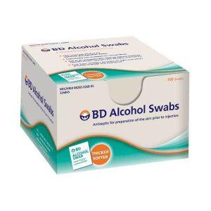 BD Alcohol Swabs (Prep Pads) 100/Box