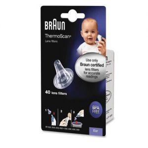 Braun Ear Thermometer Lens Filters (Pack of 40)