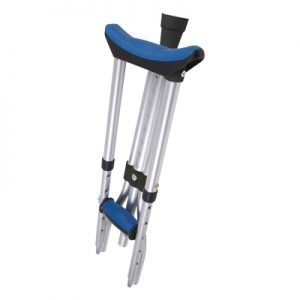 Carex Folding Crutches Blue Pads And Grips