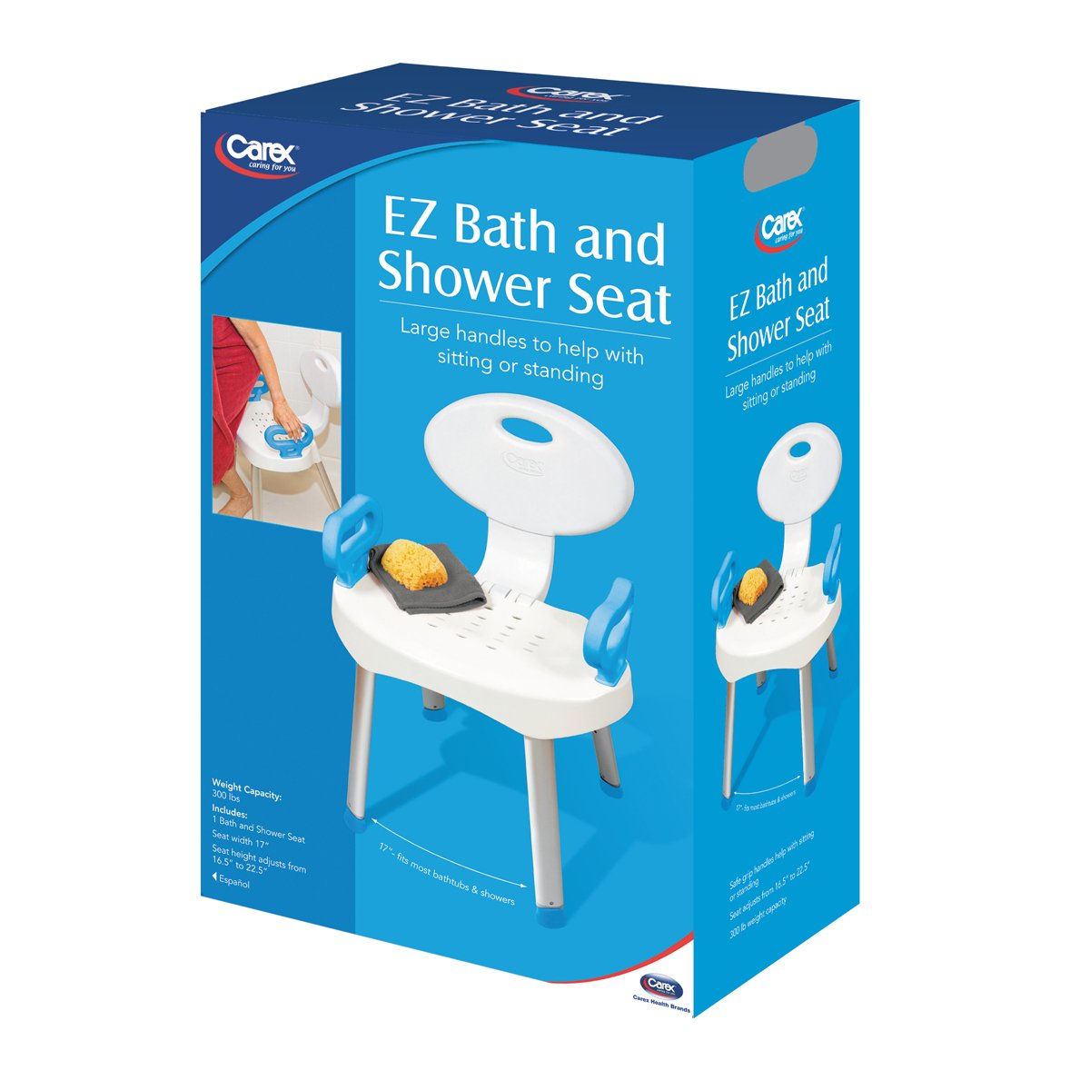 Carex E Z Bath Shower Seat With Handles Riteway Medical