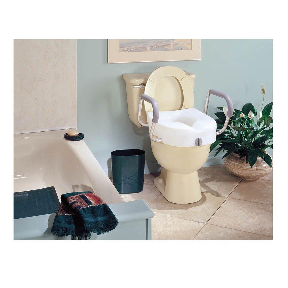 Pleasing Buy Carex E Z Lock Raised Toilet Seat With Armrests For Elongated Toilets Short Links Chair Design For Home Short Linksinfo