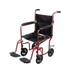 Drive Medical Flyweight Lightweight Transport Wheelchair