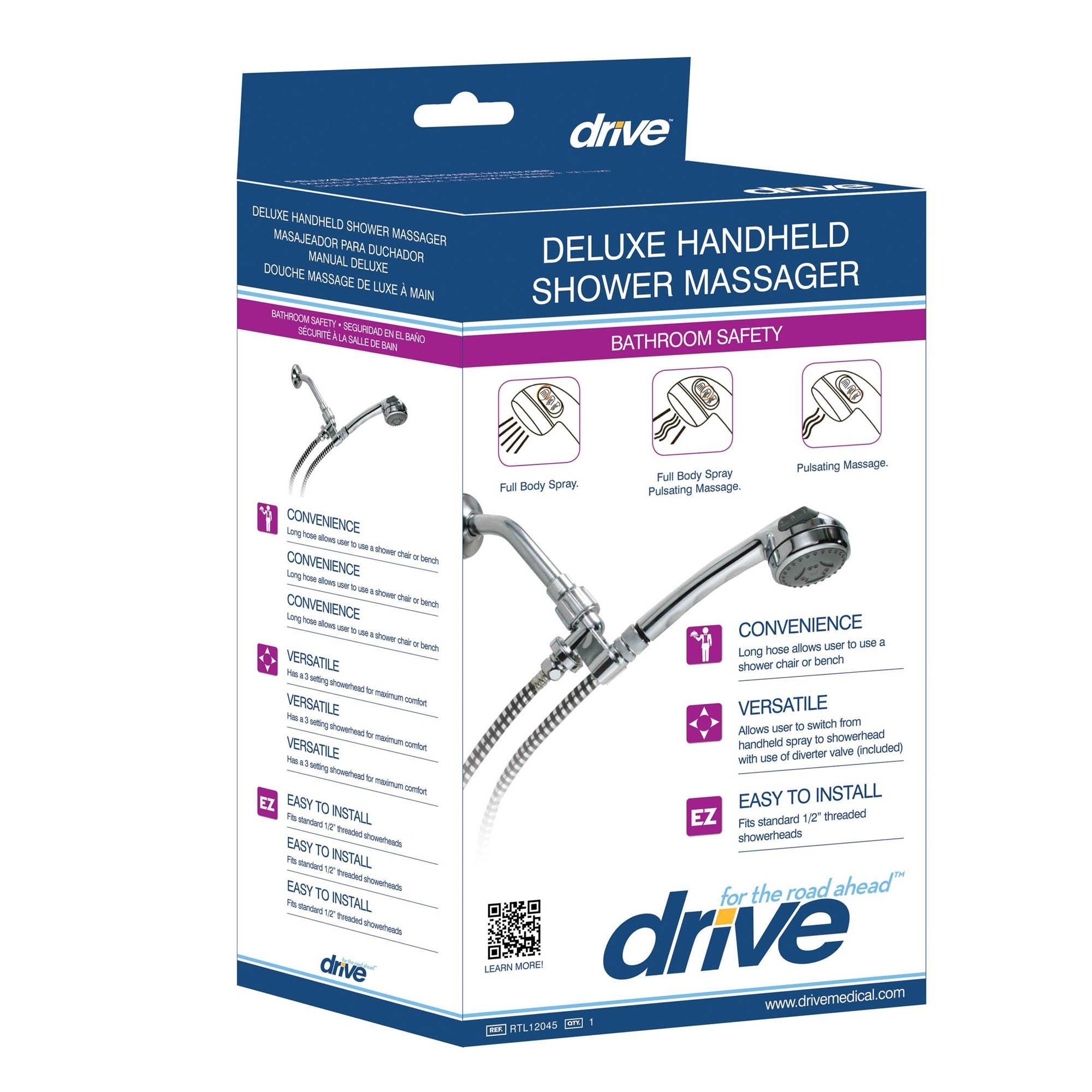 Buy Drive Medical Handheld Shower Head Spray Massager Shower Aids