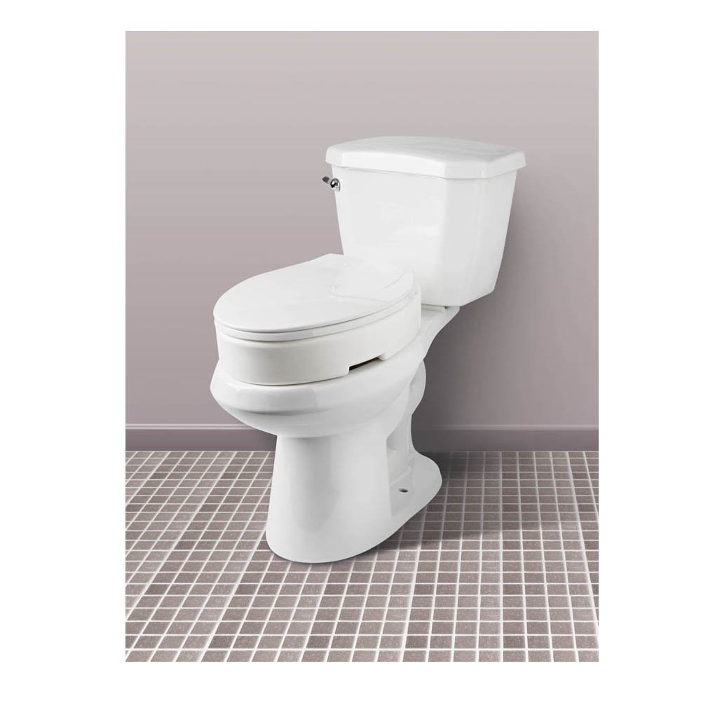 Fantastic Carex Elongated Hinged Toilet Seat Riser Riteway Medical Pabps2019 Chair Design Images Pabps2019Com