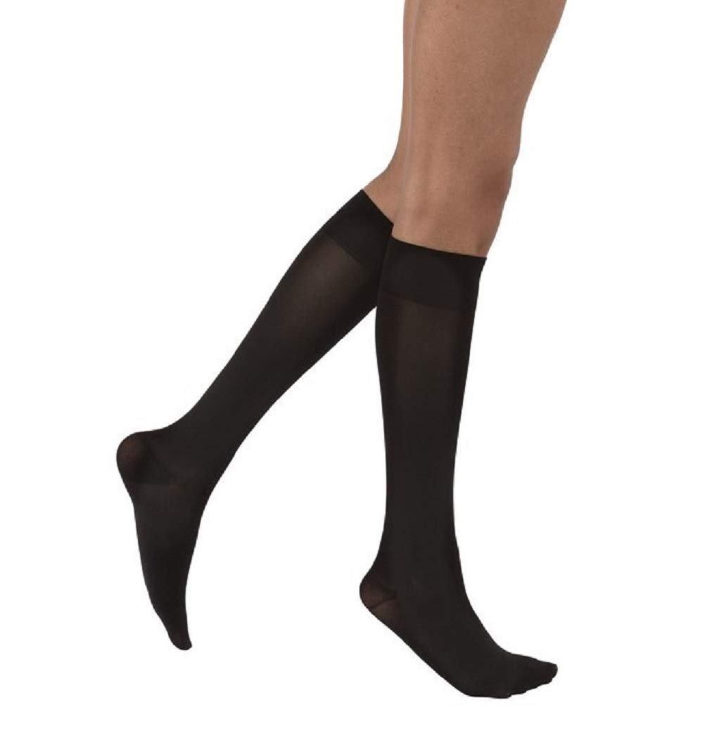 c0b7a37abbf Jobst Opaque Stockings 20-30 mmHg Knee-High Closed Toe Black