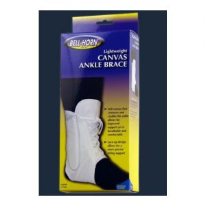 Bell-Horn Lace-Up Ankle Brace White