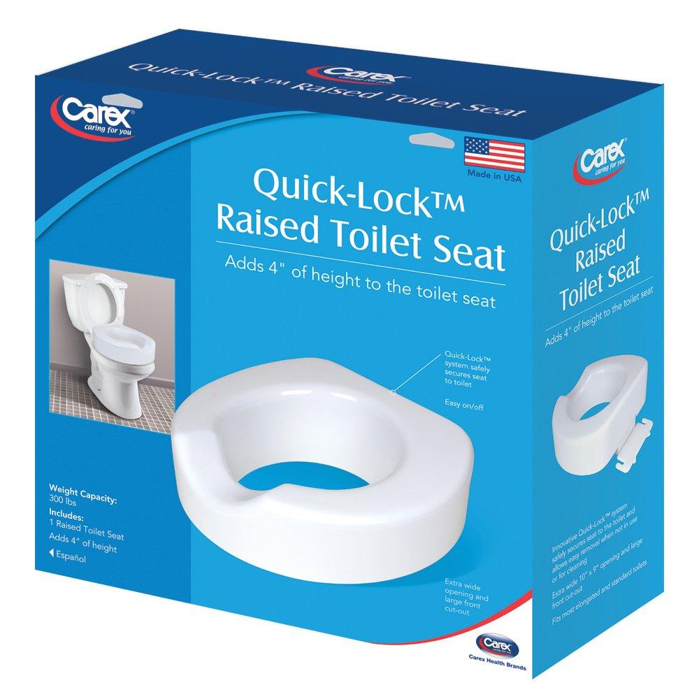 Super Buy Carex Quick Lock Raised Toilet Seat Toilet Seat Riser Ibusinesslaw Wood Chair Design Ideas Ibusinesslaworg