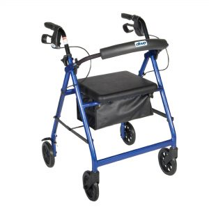 Drive Medical Rollator Walker with Folding Removable Back Support