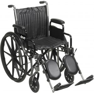 Drive Silver Sport 2 Wheelchair With Elevating Leg Rests