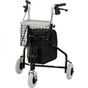 NOVA Traveler 3-Wheeled Rollator Walker