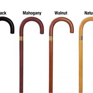 W1539-Wood Curved Handle Canes