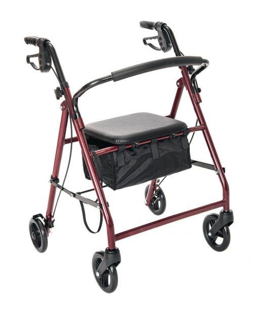 W1700R-14-Essential rollator red