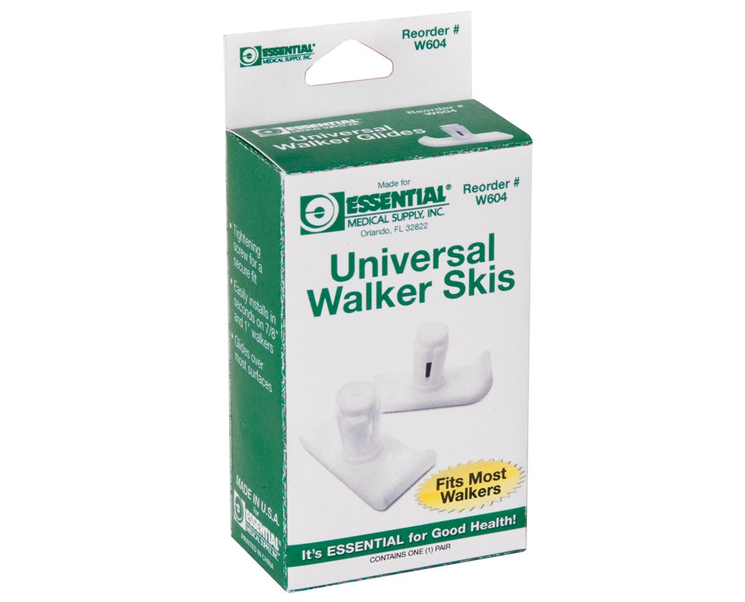 Essential Universal Walker Skis White Color - RiteWay Medical