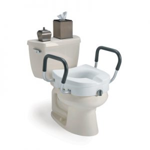 Invacare Clamp-On Raised Toilet Seat With Arms