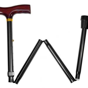 Carex Black Designer Folding Derby Cane