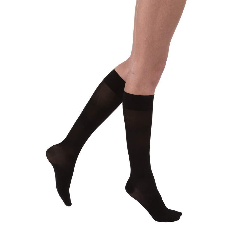 13350b53de Jobst UltraSheer Stockings Knee High 15-20 mmHg Closed Toe, Black