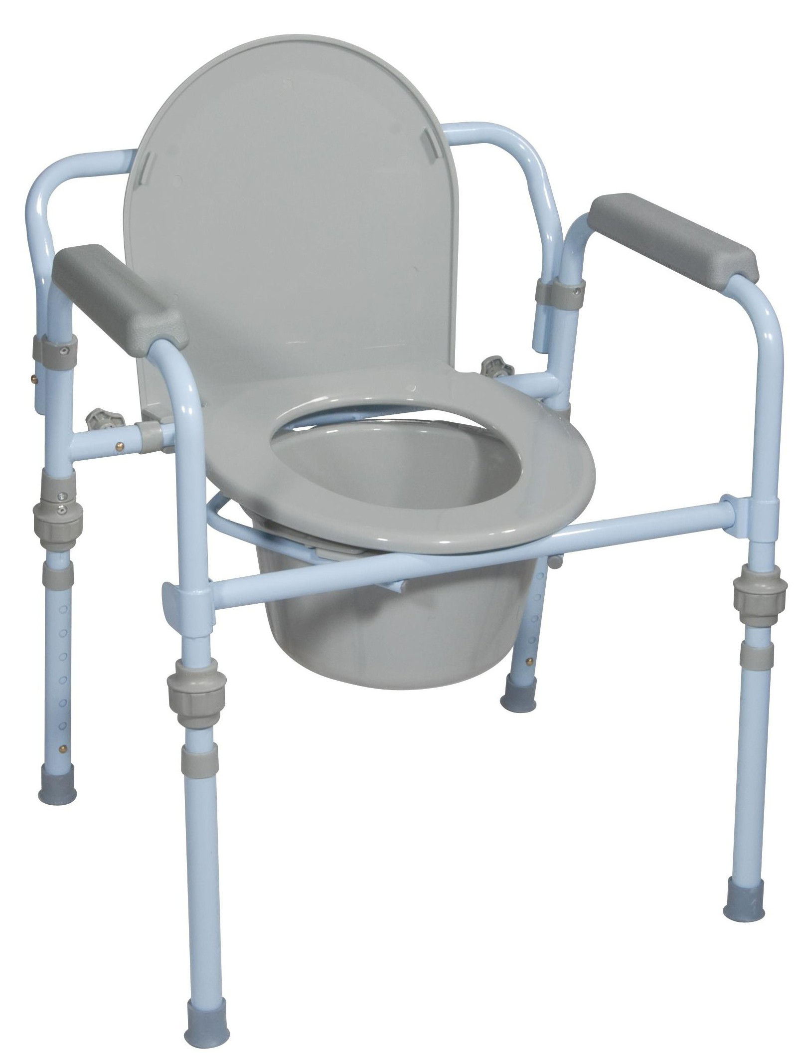 Excellent Drive Folding Bedside Commode With Bucket And Splash Guard Pdpeps Interior Chair Design Pdpepsorg