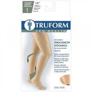 Truform Anti-embolism Stockings 18 mmHg Thigh High