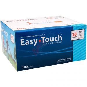 EasyTouch Insulin Syringes 30g, 1cc