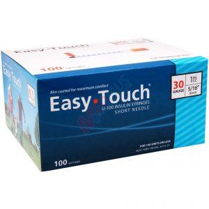 EasyTouch Insulin Syringes 30g, 1cc, 5:16 Inch