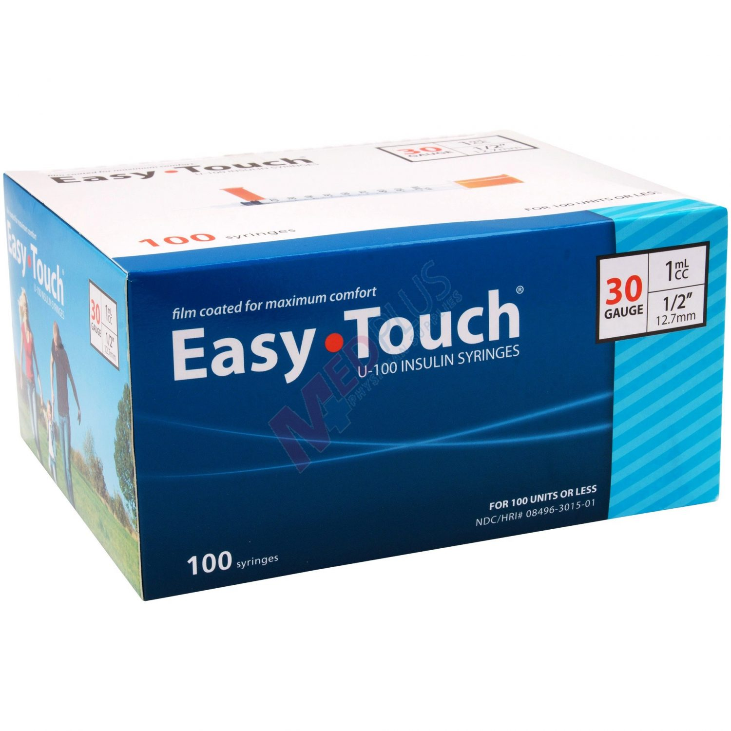 Easy Touch Insulin Syringes 30g 1cc 1 2 12 7mm 1cc Insuin Syringes