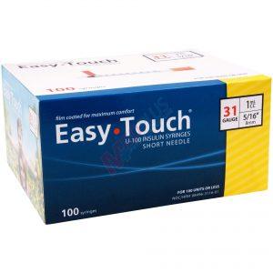 EasyTouch Insulin Syringes 31g, 1cc, 5/16 Inch (8mm)