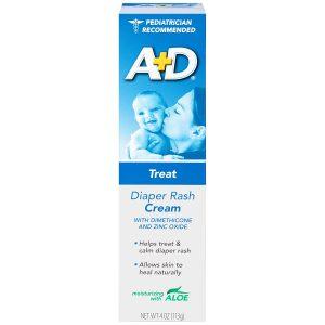 A+D Diaper Rash Cream, Dimethicone Zinc Oxide Cream