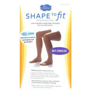 Dr. Comfort Anti-Embolism Stockings 18 mmHg Thigh High Closed Toe
