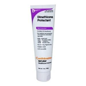 Secura Dimethicone Protectant Cream 4 oz is a topical cream that provides protection from exposure to urine and feces on the skin in the perineal area.
