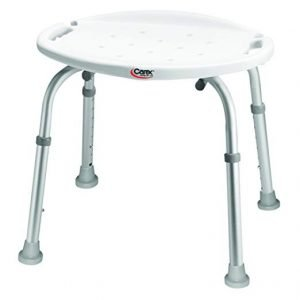 Carex Adjustable Bath & Shower Seat with Back or without Back