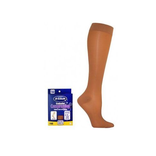 7dd3f7dac Dr. Scholl s Women s Sheer Compression Stockings Knee High Closed Toe