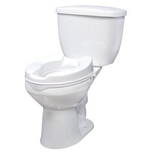 Drive Medical Raised Toilet Seat with Lock Standard Seat