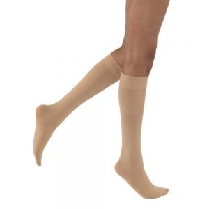 Jobst Opaque Stockings 20-30 mmHg Knee-High Full Calf Closed Toe Natural