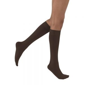 Jobst Opaque Stockings Knee High Closed Toe 15-20 mmHg Black