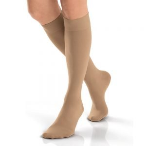 Jobst Opaque Stockings Knee High Closed Toe 15-20 mmHg Natural