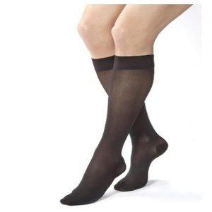Jobst UltraSheer Stockings 20-30 mmHg Knee High Closed Toe, Black