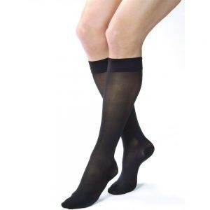 Jobst UltraSheer Stockings 30-40 mmHg Knee High Closed Toe Black