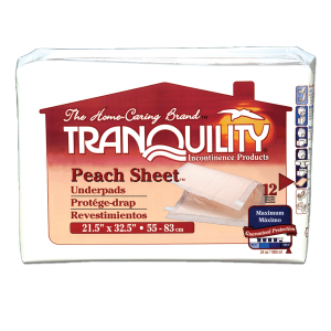 Tranquility Peach Sheet Underpad (Pack of 96)