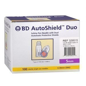 BD Autoshield Duo 30G 100 Sterile Single Use Needles