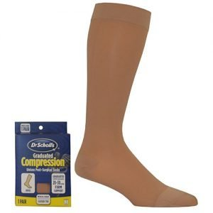 Dr. Scholl's Post Surgical Compression Stockings 20-30 mmHg Knee High Closed Toe Beige