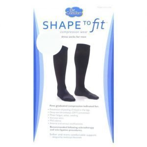 Dr Comfort Men's Support Dress Socks 20-30 mmHg, Navy