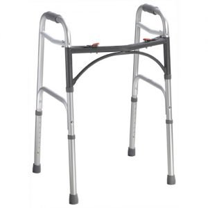 Drive Deluxe Two Button Folding Walker Adult