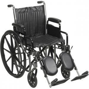 Drive Silver Sport 2 Wheelchair With Swing away Footrests
