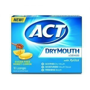 ACT Dry Mouth Honey Lemon Xylitol Lozenges ( Pack of 18)