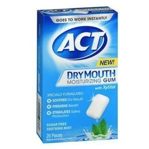 ACT Dry Mouth Moisturizing Gum 20 Ct