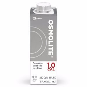 Abbott Osmolite 1.0 Calorie 8 oz carton is therapeutic nutrition that provides complete, balanced nutrition for long- or short-term tube feeding for patients with caloric requirements of less than 2000 calories per day or for patients with increased protein requirements.