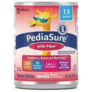 Abbott PediaSure Fiber 1.5 Calorie Vanilla 8 oz Can (Pack of 24)