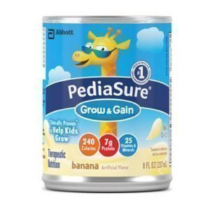 Abbott PediaSure Grow & Gain Pediatric Banana Flavor 8 oz (Pack of 24)
